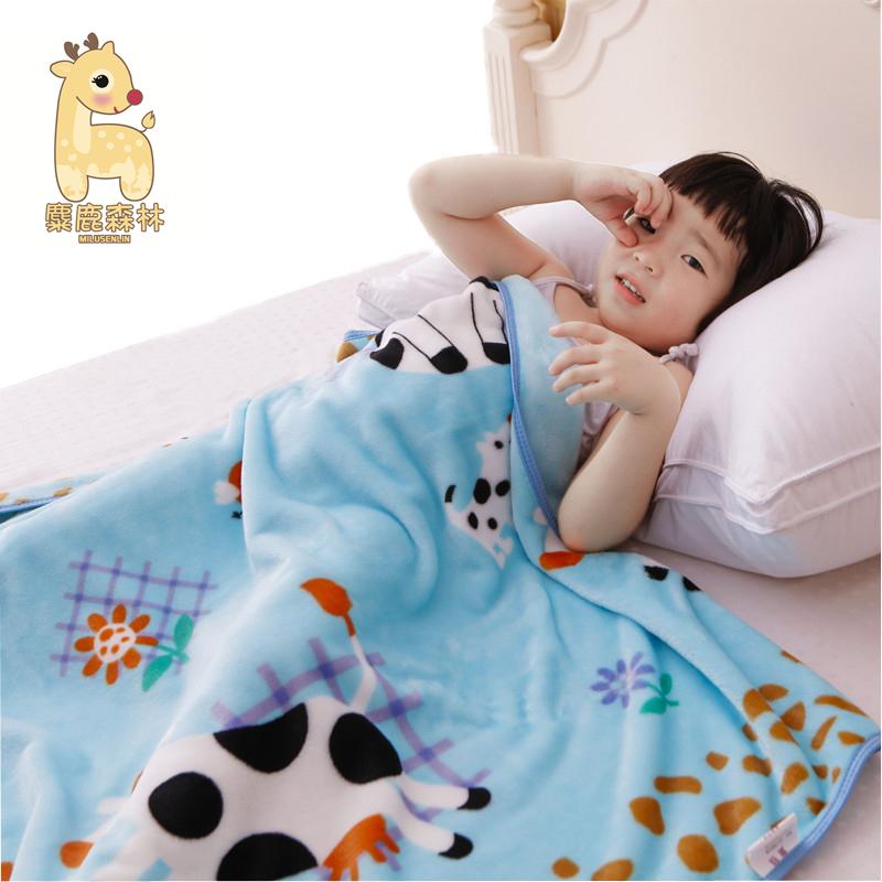 单层薄款珊瑚绒婴儿毛毯 新生儿小毯子 儿童盖毯宝宝盖肚子小被子