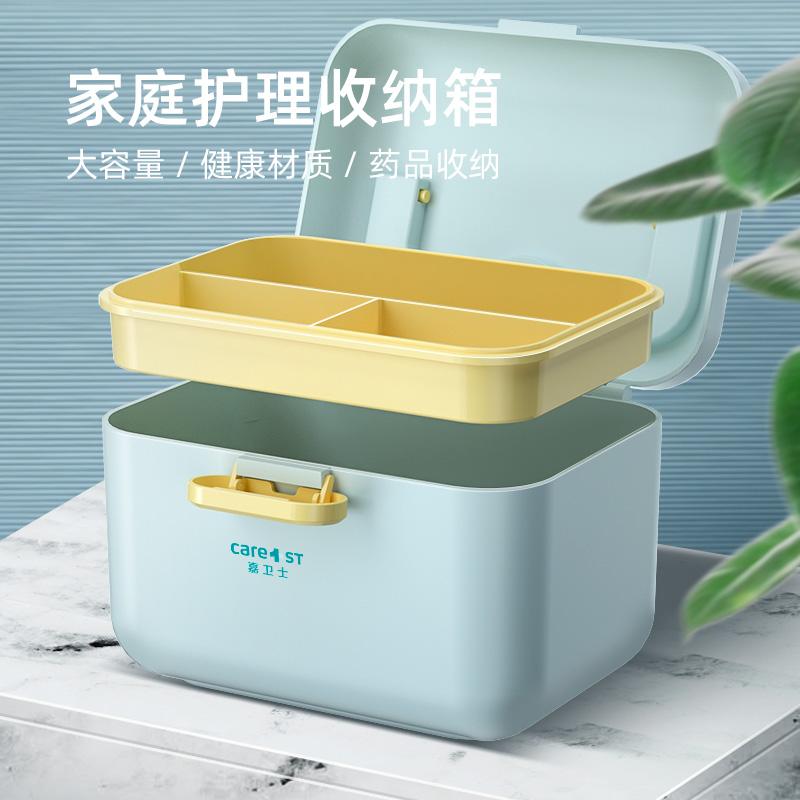 家用药箱学生宿舍化妆品洗刷品收纳盒家庭便携应急救婴儿童医疗箱