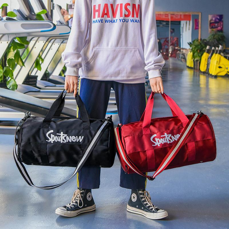 健身包女运动包潮男韩版干湿分离训练包大容量手提网红短途旅行包