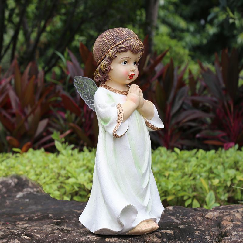花园装饰 庭院 户外花架装饰小摆件园艺装饰品树脂小天使人物摆件