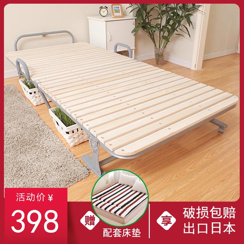 日本实木折叠床办公室木板午休床单人折叠午睡床儿童月嫂陪护床