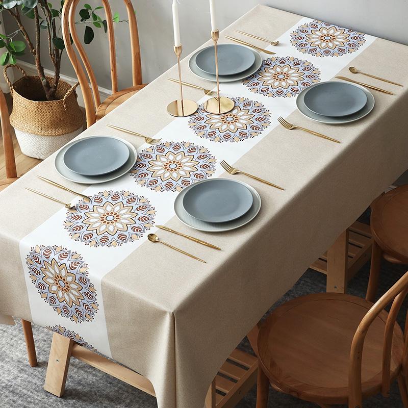 桌旗桌布防水防油免洗餐桌布长方形茶几布ins网红防烫桌布PVC北欧