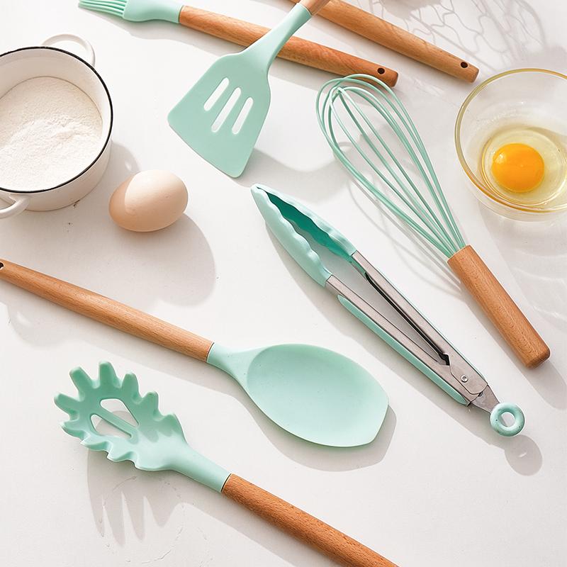 韩国家用耐高温硅胶铲子不粘锅专用锅铲勺子套装厨房铲子勺全套
