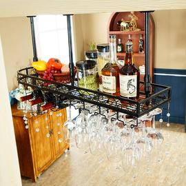 欧式悬挂红酒杯架倒挂酒架酒吧吧台高脚杯架创意酒柜装饰吊架摆件