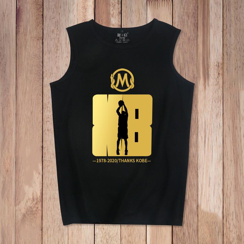 科比纪念背心男詹姆斯库里篮球训练健身运动无袖T恤欧文纯棉坎肩