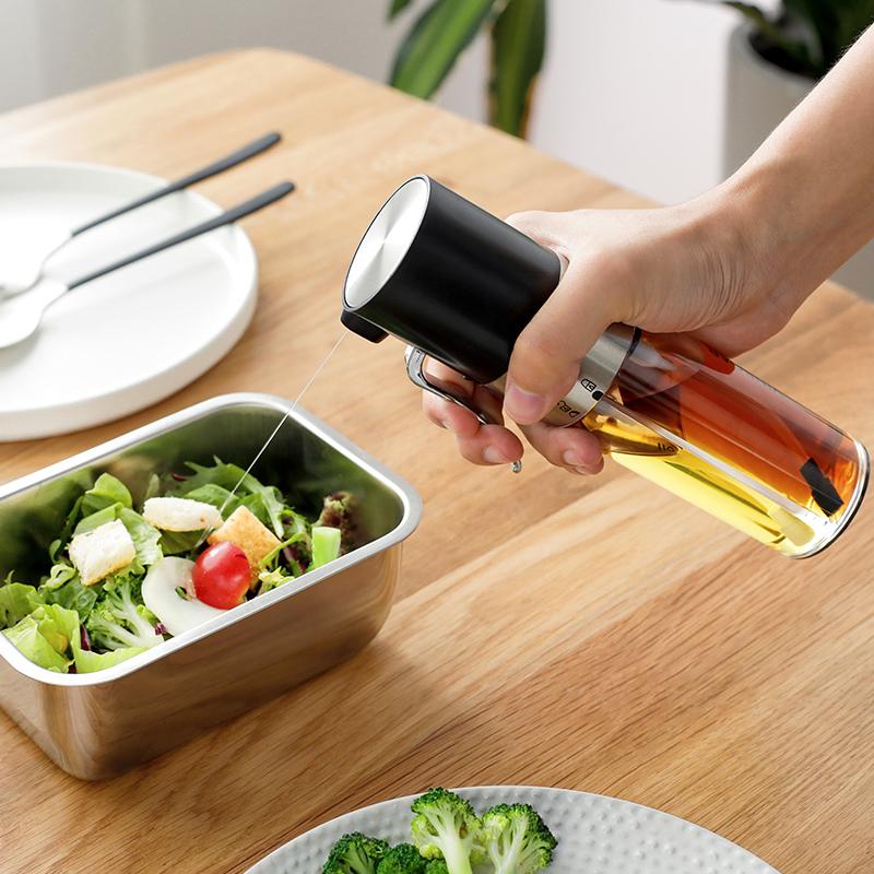 家用油醋一体喷油瓶厨房防漏酱油瓶烧烤喷雾装油瓶橄榄油食用油壶