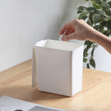 桌面垃圾桶带盖家tp5创意办公ok你卫生间垃圾筒(小)纸篓收纳桶
