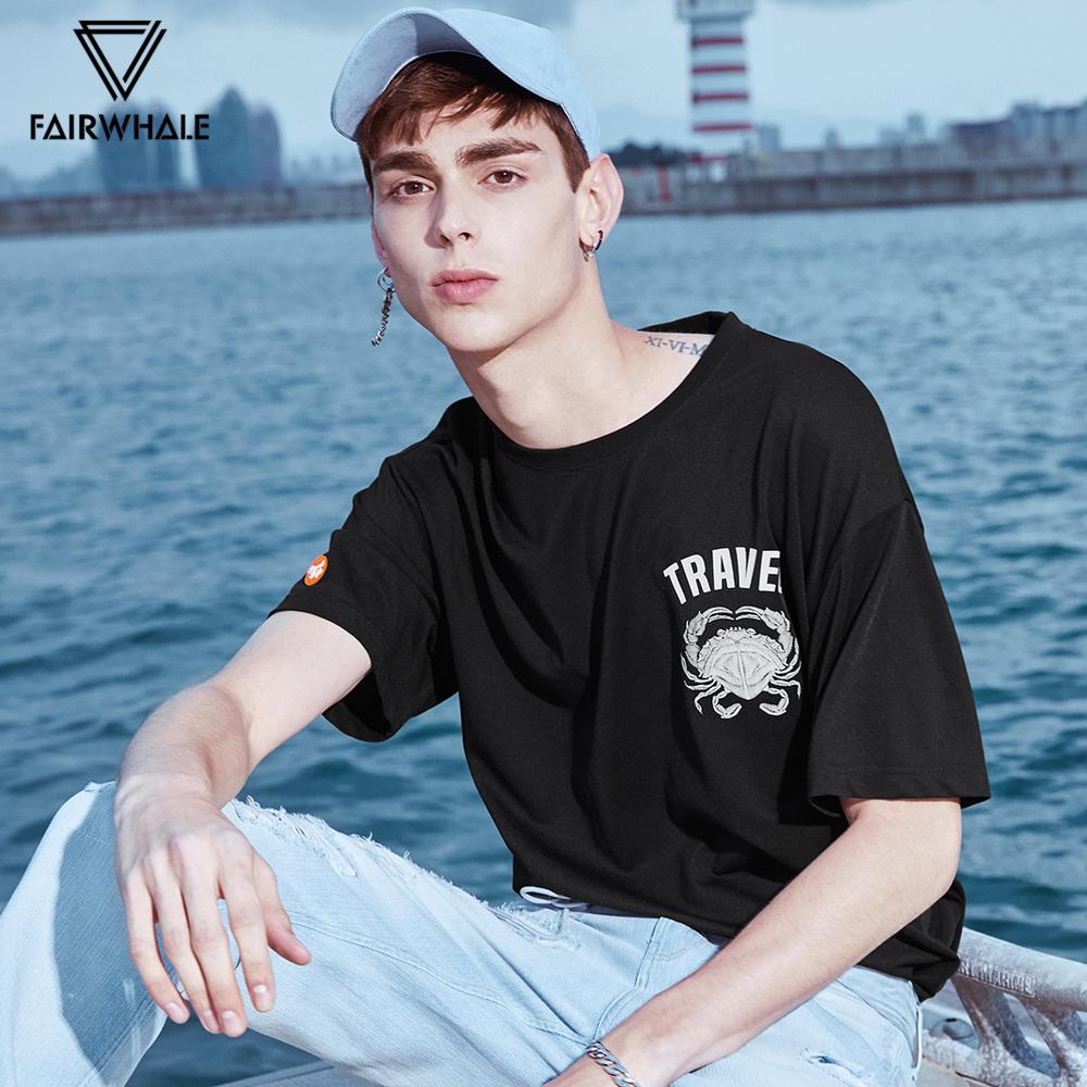 马克华菲短袖t恤男夏季男士打底衫动物印花韩版半袖上衣休闲