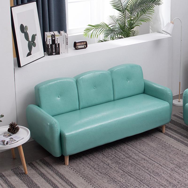 北欧油皮沙发公寓客厅卧室店铺小户型简约双人三人沙发轻奢网红款