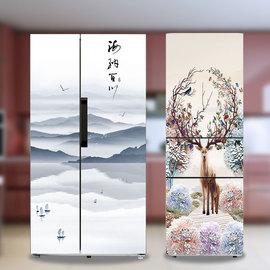 送工具冰箱贴纸装饰防水防油自粘翻新侧面全贴可移除创意画改色膜