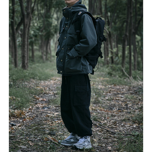美式复古户外防风加厚冲锋外套男女秋冬韩版宽松连帽工装夹克上衣图片