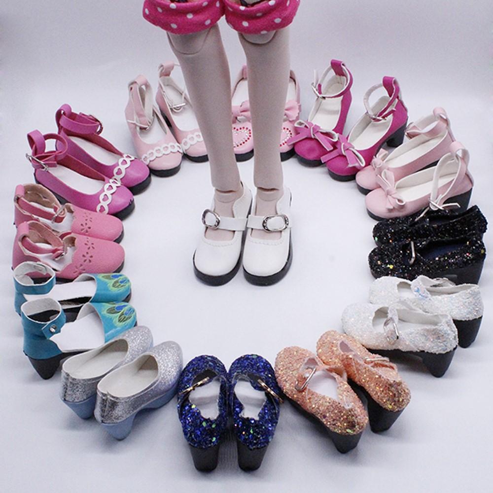 叶罗丽饰品的小鞋子高跟鞋60仙子精灵梦夜娃娃配件萝莉皮鞋厘米