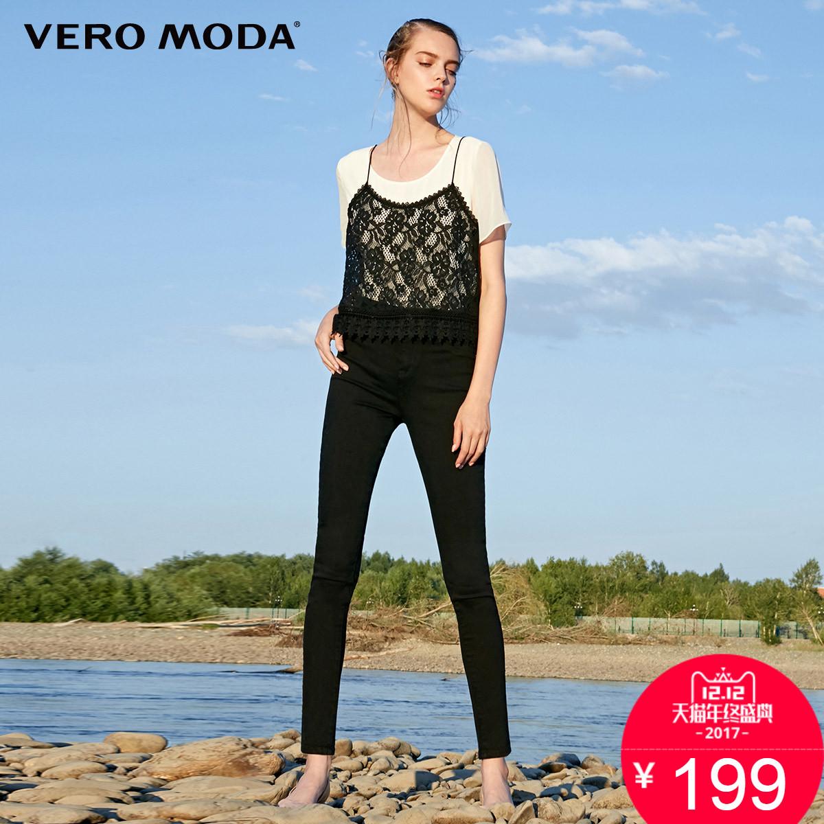 预售12.18日发货Vero Moda高含棉弹力修身牛仔裤 317332536