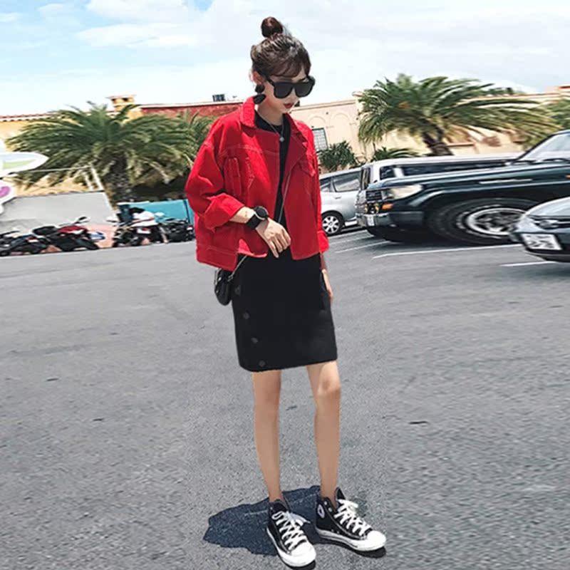 2019初秋季新款女装早秋款网红抖音休闲气质显瘦时尚裙两件套装潮