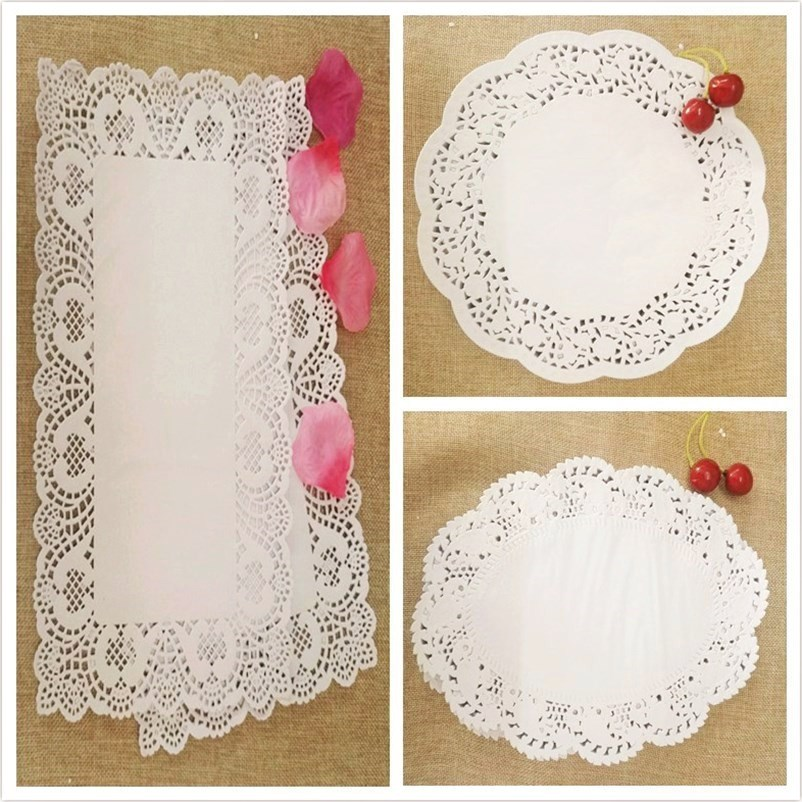 长方形花纸垫盘子花边纸花底纸蛋糕烘焙吸油纸圆形垫纸花边纸