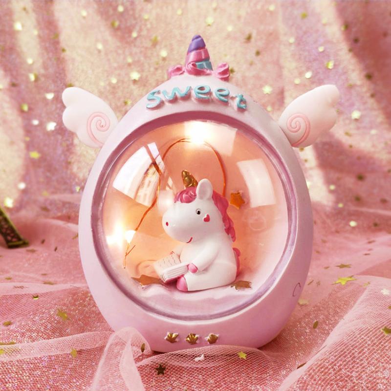 ins少女心独角兽星星小夜灯台灯网红圣诞节礼品卧室房间布置装饰
