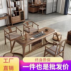新中式实木茶桌椅组合阳台禅意茶台办公室功夫现代简约小茶几仿古