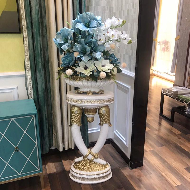 客厅落地大花瓶摆件插花干花高欧式大号装饰简欧室内北欧美式复古