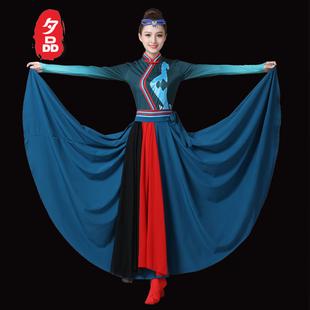 蒙古演出服少数民族服装现代民族风舞蹈夏蒙族舞蹈衣服女鸿雁套装图片
