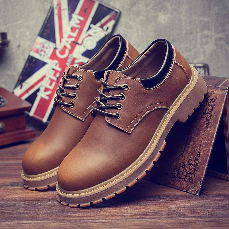 复古秋冬季加绒保暖棉鞋马丁鞋男靴韩版潮流英伦大头皮鞋工装鞋子
