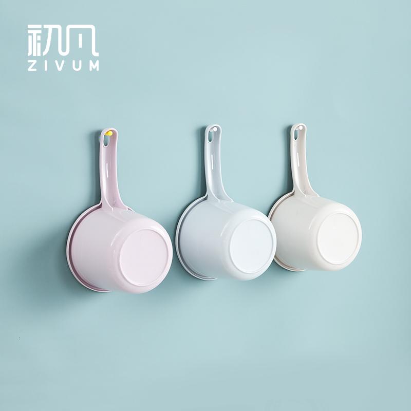 初凡家用厨房水瓢塑料加厚长柄水勺儿童洗头洗澡水勺子水舀子水飘