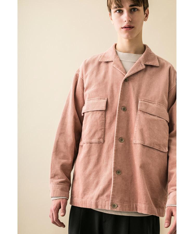 【6折】东京胖黄瓜 MONKEY TIME 灯芯绒工装口袋衬衫 男款 0172
