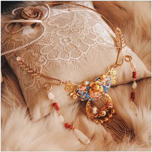 中国风中式古典古代古风璎珞项圈秀禾服项链古装汉服配饰婚礼饰品