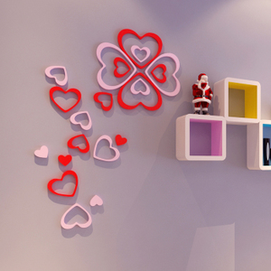 Creative three-dimensional heart-shaped wall sticker environmentally friendly wooden removable wall decoration wall decoration wall home accessories wall decoration