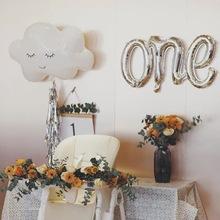 韩国insmo2红云朵笑og铝膜气球 生日宝宝房布置早教节庆用品
