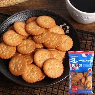 蔡文静推荐日本野村植物油粗粮饼干天日盐儿童小零食品网红小圆饼