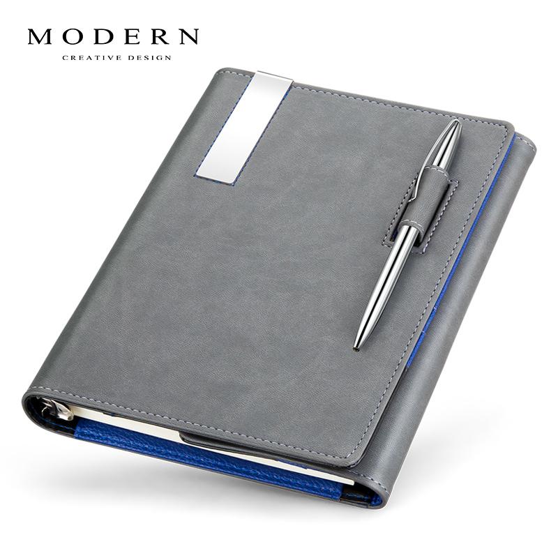 德国Modern创意欧式真皮笔记本套活页商务记事本日记本子文具定制