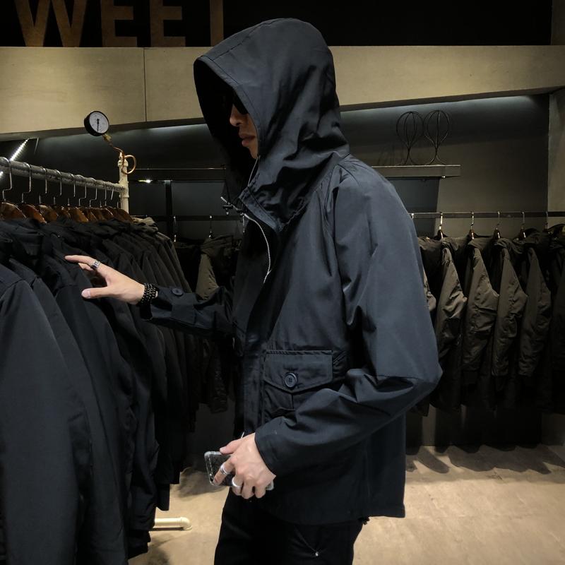 独家景 100%聚酯纤维 男士外套韩版潮流衣服工装夹克男W102 P85