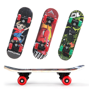 Children's scooter four wheels beginner little boy and girl mini toy car toddler baby double rocker road skateboard