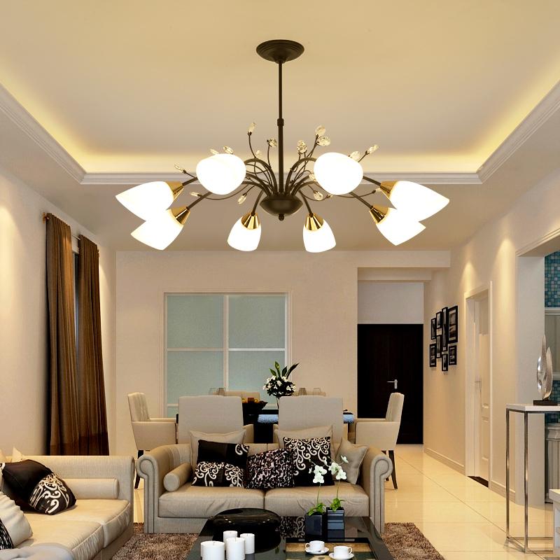 美式简约吊灯创意温馨客厅吊灯奢华大厅时尚餐厅个性时尚书房吊灯-星河灯饰