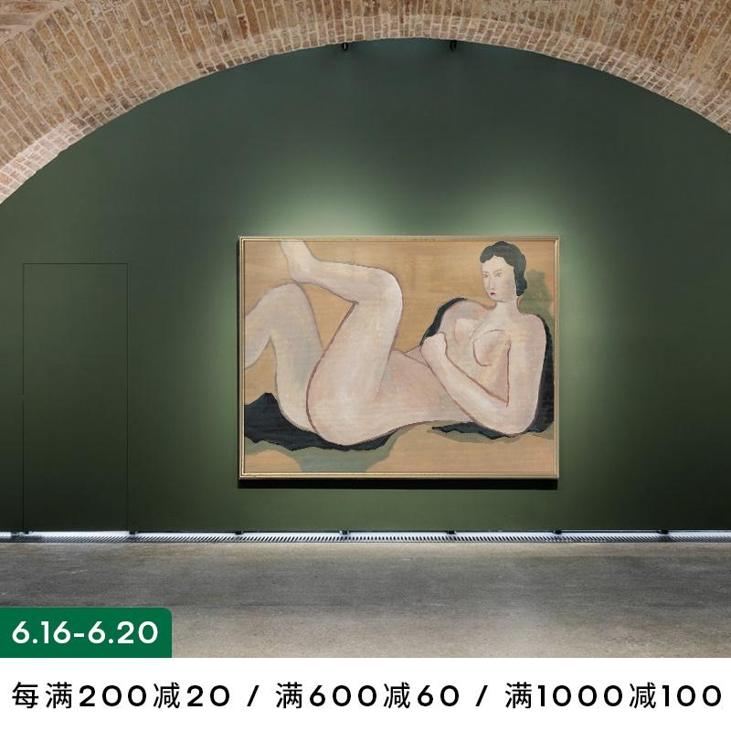 「带点妖娆更吸引人」小众抽象人物艺术装饰画高端订制玄关墙壁画