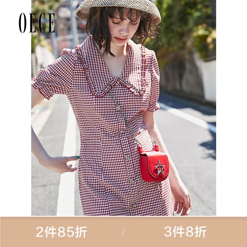 Oece2019夏装新款女装 很仙的法国小众桔梗裙裙子仙女超仙连衣裙