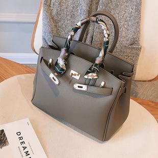 欧美大气时尚女士包包2020新款潮韩版百搭斜挎包气质手提包凯莉包图片
