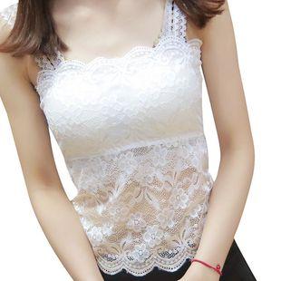 夏季女士韩版打底衫百搭短款小背心大码内搭上衣抹胸薄款蕾丝吊带图片