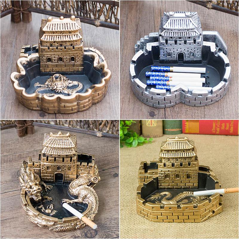 简约个性中国风复古创意潮流烟灰缸家用家居多功能礼品礼物摆件