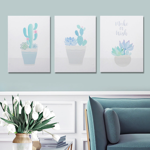 Cactus decorative painting wall hanging ins home accessories nordic style modern minimalist mural restaurant frameless painting hanging picture