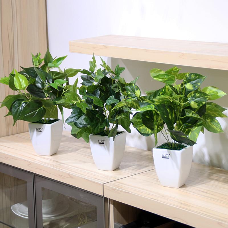 仿真 植物 盆景 清新 盆栽 室内 海棠 装饰