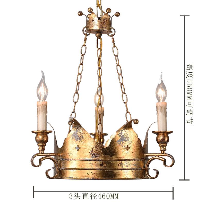 美式乡村吊灯创意个性复古吧台客厅卧室北欧铁艺蜡烛艺术灯具包邮-奥梦灯饰