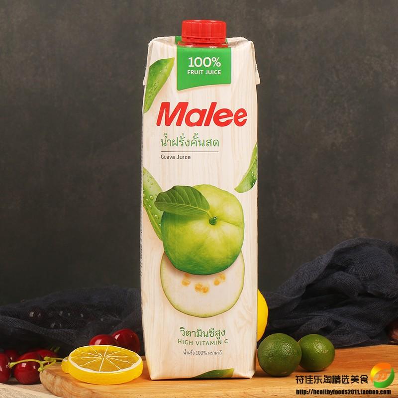 泰国原装进口玛丽果汁纯番石榴汁1L*2瓶水果汁果蔬汁饮料值得回购