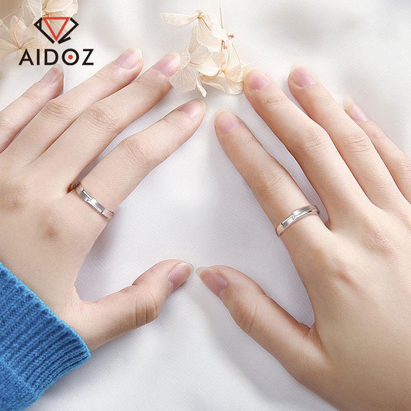 PT950铂金钻石戒指男女款 简约情侣白金指环结婚求婚钻戒对戒一对