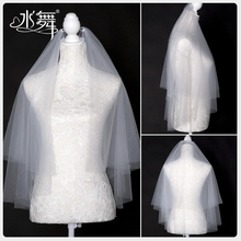 Water dance bride 2020 new short double white wedding headdress wedding headdress accessories r0181