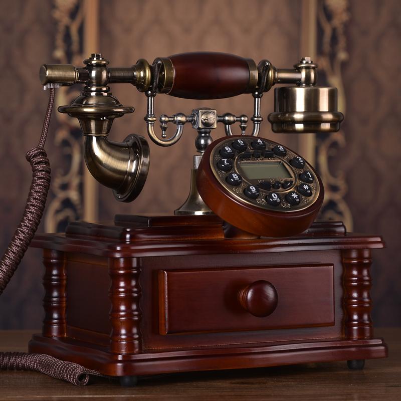 特价欧式电话机实木座机电话复古家用创意固定仿古电话机新款包邮