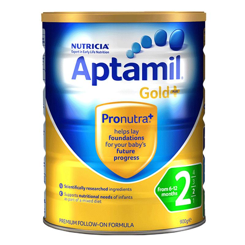 【直营】新西兰Aptamil爱他美进口较大婴儿奶粉2段900克6-12个月