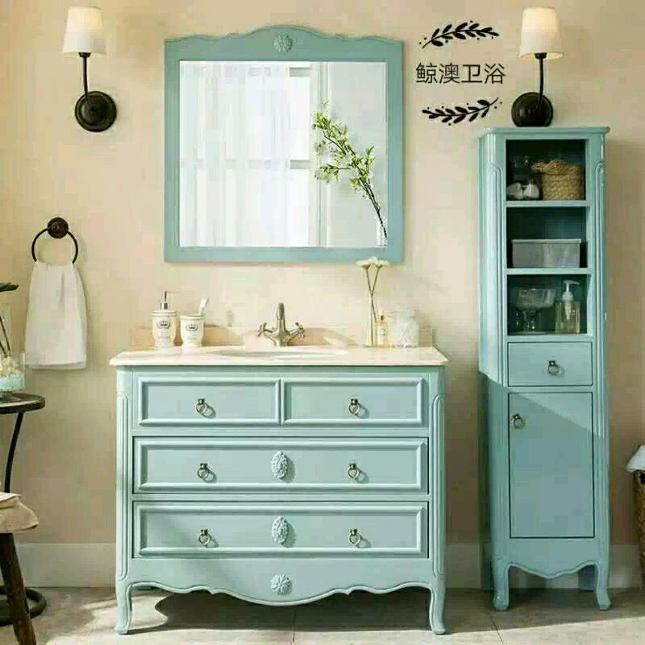 浴柜美式图片