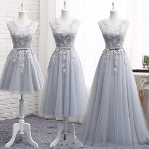 Bridesmaid dress long section 2018 new fashion dress sisters skirt bridesmaid dress short banquet chair