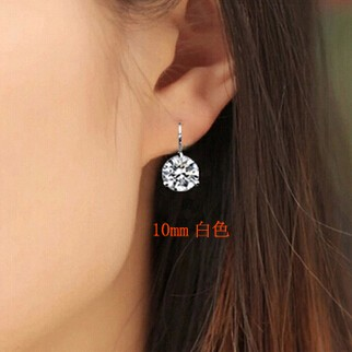 新款饰品 正品 新款 月亮河水晶锆石耳环 耳扣 耳饰 韩国 女 包邮